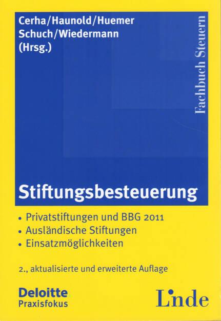 Günter Cerha / Peter Haunold / Edgar Huemer / Josef Schuch / Klaus Wiedermann - Stiftungsbesteuerung - http://boerse-social.com/financebooks/show/gunter_cerha_peter_haunold_edgar_huemer_josef_schuch_klaus_wiedermann_-_stiftungsbesteuerung (22.04.2015)