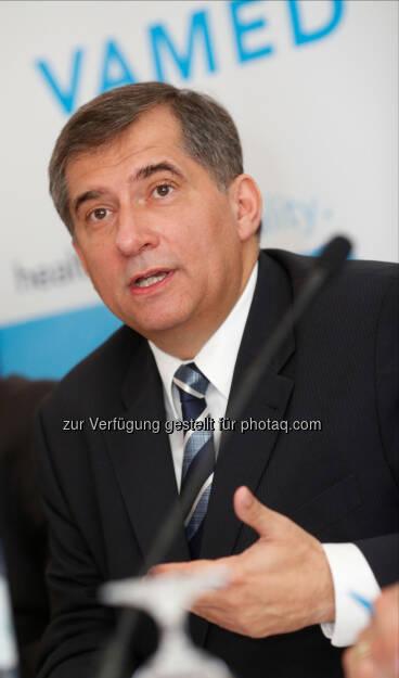 Ernst Wastler, Vorsitzender des Vorstands der Vamed AG: Gesundheitskonzern Vamed bleibt auf internationalem Expansionskurs, 1,7 Mrd. Euro Rekordauftrag aus Deutschland, © Aussender (24.04.2015)