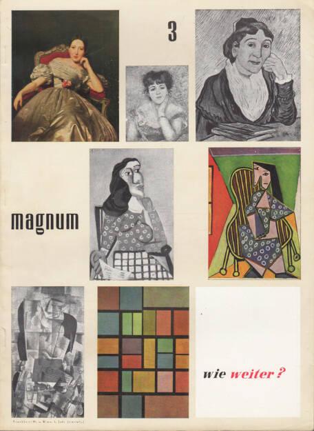 magnum – die Zeitschrift für das moderne Leben, Nummer 3, Zeitschriftenverlag Austria International und Magnum 1954, Cover - http://josefchladek.com/book/magnum_die_zeitschrift_fur_das_moderne_leben_nummer_3_1954_-_wie_weiter, © (c) josefchladek.com (26.04.2015)