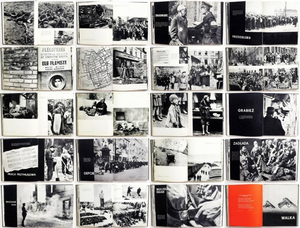 Adam Rutkowski - Meczenstwo Walka, Zaglada Zydow w Polsce 1939-1945, Wydawnictwo Ministerstwa Obrony Narodowej 1960, Beispielseiten, sample spreads - http://josefchladek.com/book/adam_rutkowski_-_meczenstwo_walka_zaglada_zydow_w_polsce_1939-1945, © (c) josefchladek.com (27.04.2015)