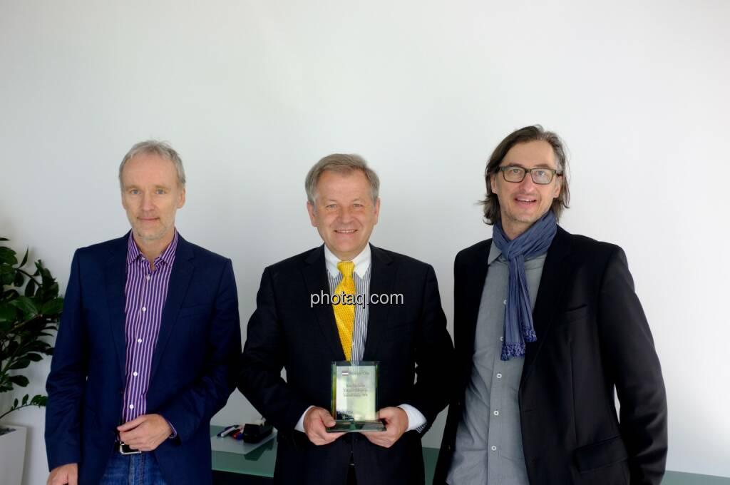 Christian Drastil (Börse Social Network), Eduard Zehetner (Immofinanz), Josef Chladek (Börse Social Network), © Börse Social Network/photaq.com (30.04.2015)