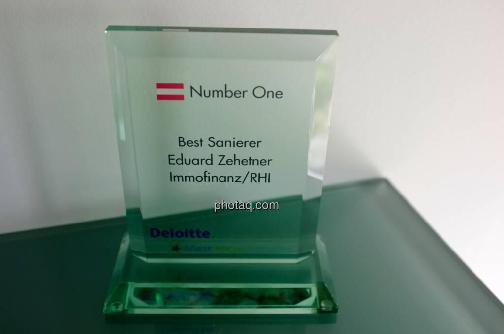Number One Award: Best Sanierer - Eduard Zehetner Immofinanz/RHI , © Börse Social Network/photaq.com (30.04.2015)