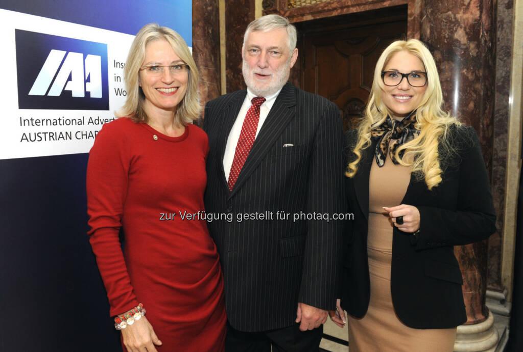 Martina Hörmer, Franz Fischler, Christina Weidinger beim IAA Business Communication Lunch, mit Franz Fischler und Christina Weidinger (c) ORF/Thomas Jantzen (25.02.2013)