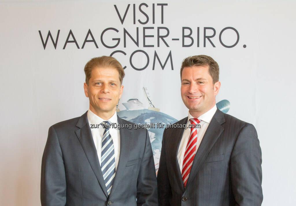 Vorstandsvorsitzende Thomas Jost (R) und Finanzvorstand Martin Zinner, Waagner-Biro AG: 16. Hauptversammlung Waagner-Biro AG: Jahresergebnis 2014 erhöht, aber hinter Erwartungen, © Aussender (04.05.2015)