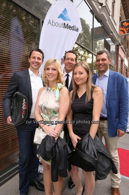 Nils Müller, Susanne Ofenböck, Eugen Schmidt, Barbara Fink, Andreas Martin, © AboutMedia (06.05.2015)