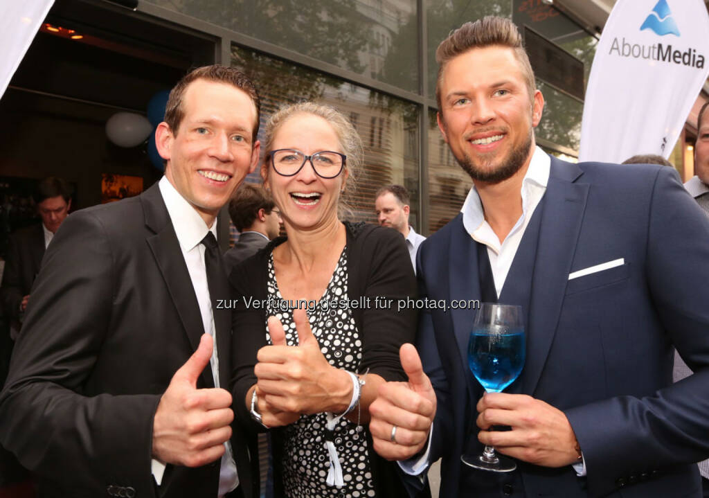 Eugen Schmidt, Martina Zadina, Mark Philipp Wondra, © AboutMedia (06.05.2015)