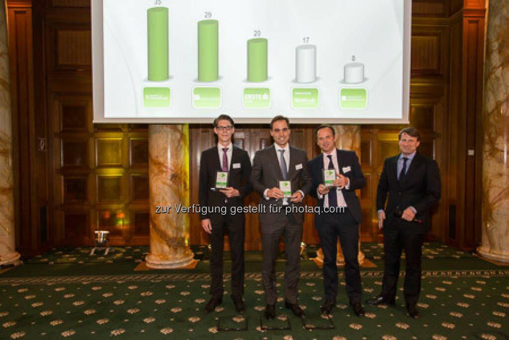 Zertifikate Award 2015 - Philipp Arnold, Volker Meinel, Lars Brandau, © ViennaShots - professional photographers, Andreas Pecka (11.05.2015)