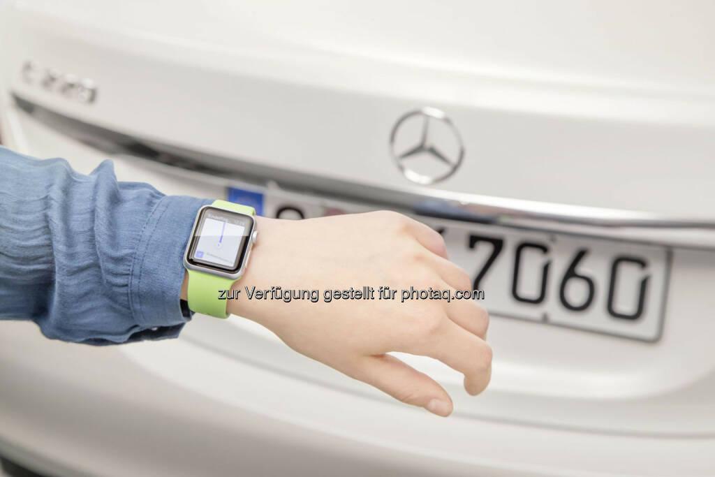 Mercedes-Benz präsentiert neue App für die Apple Watch., © Aussendung (15.05.2015)