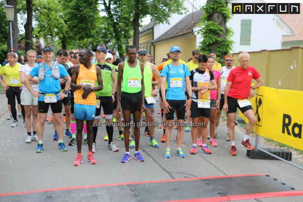 Raiffeisen Schlössermarathon 2015, Elite vor dem Start, © MaxFun Sports (17.05.2015)