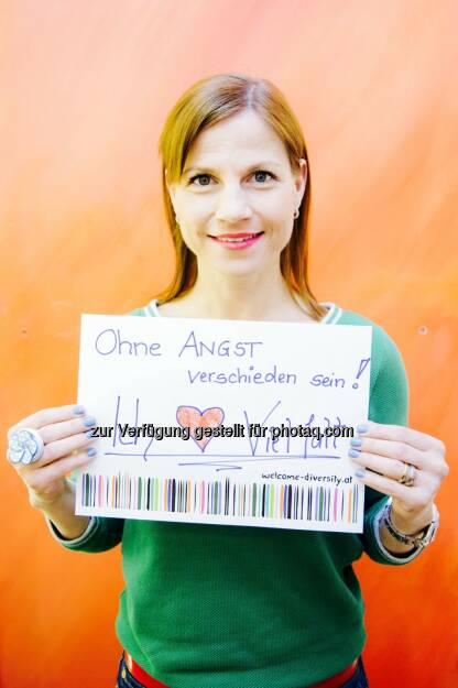 Kristina Sprenger und ihr Statement für Vielfalt: Interkulturelles Zentrum: Vielfalt, ja bitte! Prominente Unterstützung für Welcome Diversity-Kampagne, © Aussender (18.05.2015)