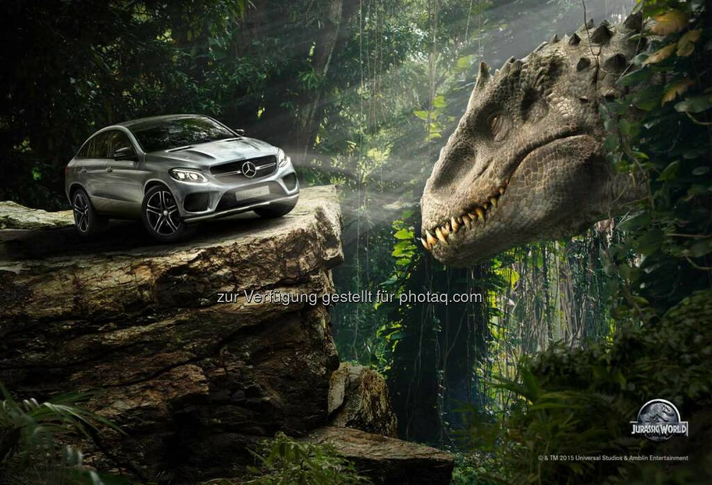 Mercedes-Benz in Universal Pictures' and Amblin Entertainment's Jurassic World: Das neue GLE Coupé  in Jurassic World , © Aussendung (18.05.2015)