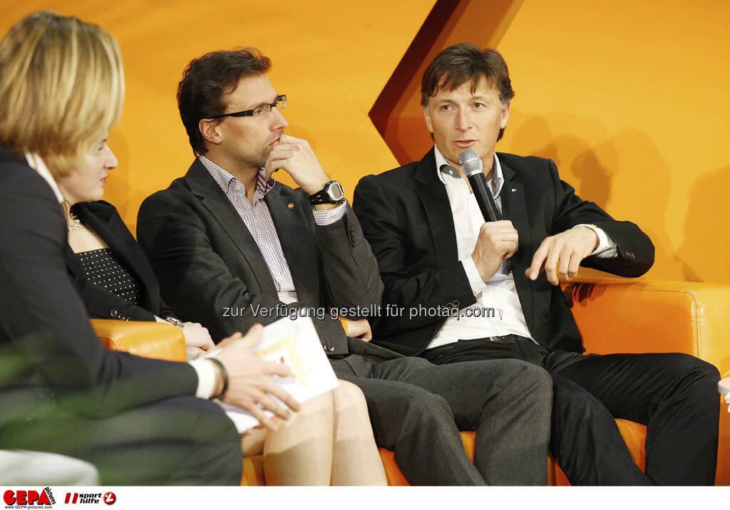 Rainer Roesslhuber (Generalsekretaer der Sportunion Oesterreich) und Gernot Kellermayr (Praesident des VSSOE). Foto: GEPA pictures/ Mathias Mandl, © GEPA/Sporthilfe (28.02.2013)