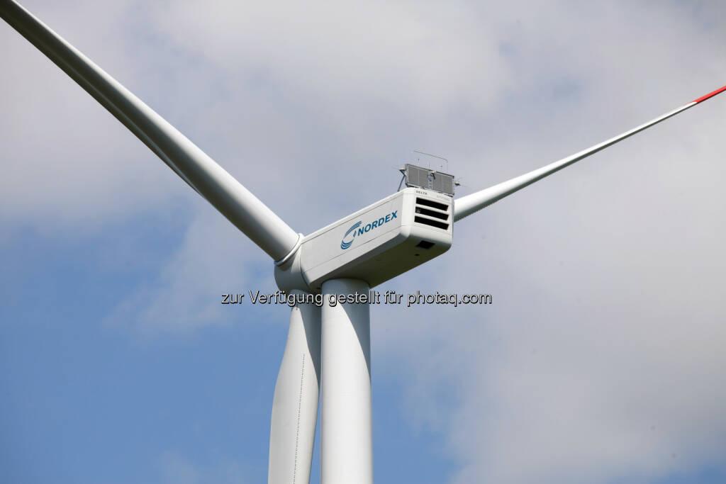 Nordex N117/3000 Delta (3,0 MW) Windenergieanlage (Bild: Nordex SE http://www.nordex-online.com/popuppic.php/news-presse/pressebilder.html ), © Aussender (21.05.2015)