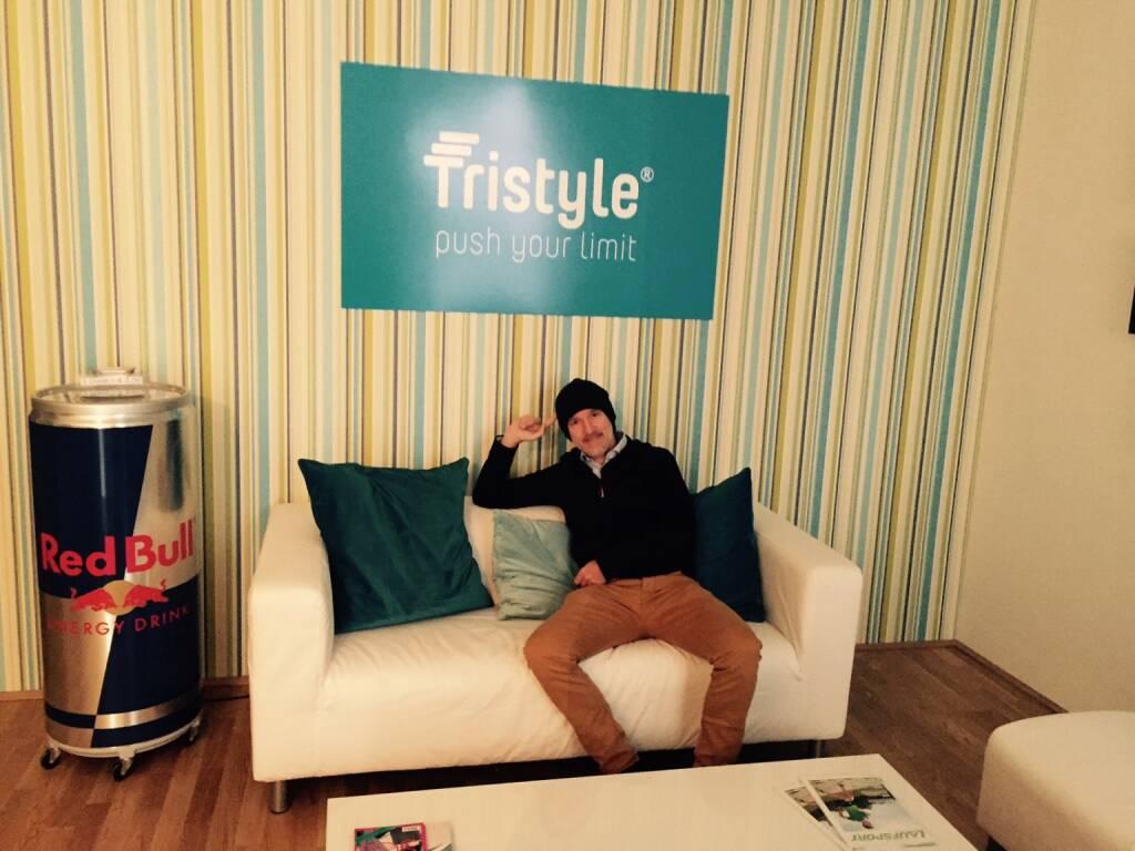 Zu Besuch bei Tristyle, mit leichter Kippung hin zum Red Bull Automaten (21.05.2015)