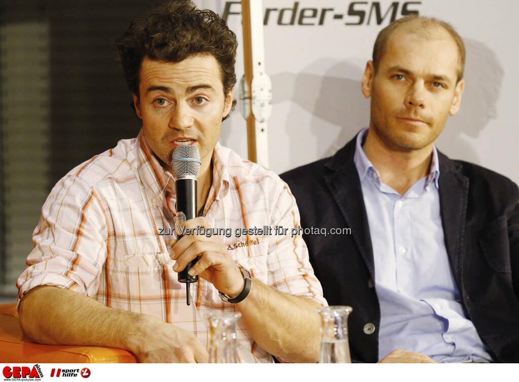 Stefan Goergl und Michael Walchhofer. Foto: GEPA pictures/ Mathias Mandl, © GEPA/Sporthilfe (28.02.2013)