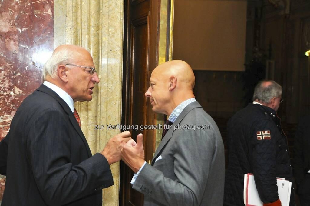 Claus Raidl (OeNB), Kurt Pribil (FMA) (15.12.2012)