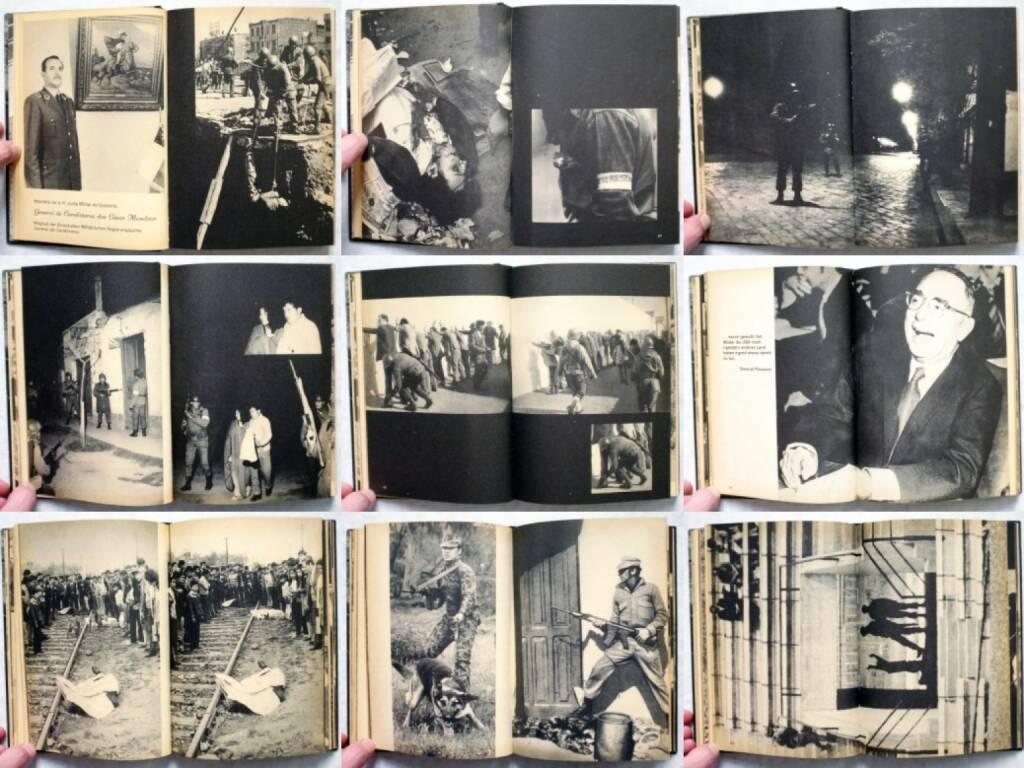 Gerhard Scheumann / Walter Heynowski / Peter Hellmich - Operation Silencio. Chile nach Salvatore Allende, Verlag der Nation 1974, Beispielseiten, sample spreads - http://josefchladek.com/book/gerhard_scheumann_walter_heynowski_peter_hellmich_-_operation_silencio_chile_nach_salvatore_allende, © (c) josefchladek.com (28.05.2015)