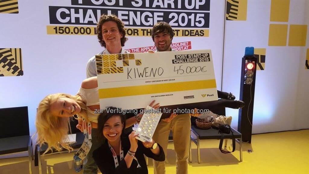 Kiweno GmbH: Gesundheits-Startup kiweno gewinnt Austrian Post Startup Challenge, © Aussendung (30.05.2015)