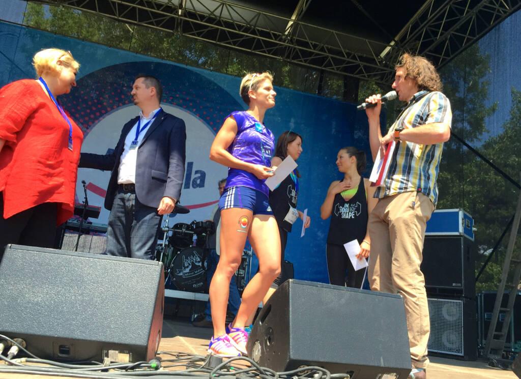 Siegerehrung Wienathlon (31.05.2015)