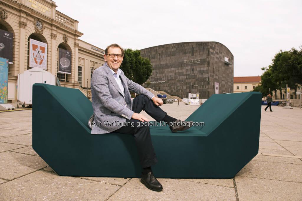 Christian Strasser (Direktor MuseumsQuartier Wien): MuseumsQuartier Wien: MQ: Wasserkunst, neue Möbel, Pop-Up Konzert (C) MusemsQuartier, © Aussendung (01.06.2015)