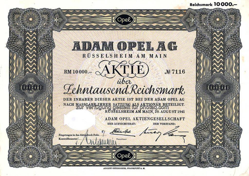 Aktie Adam Opel AG, © Uli Hanke (02.06.2015)