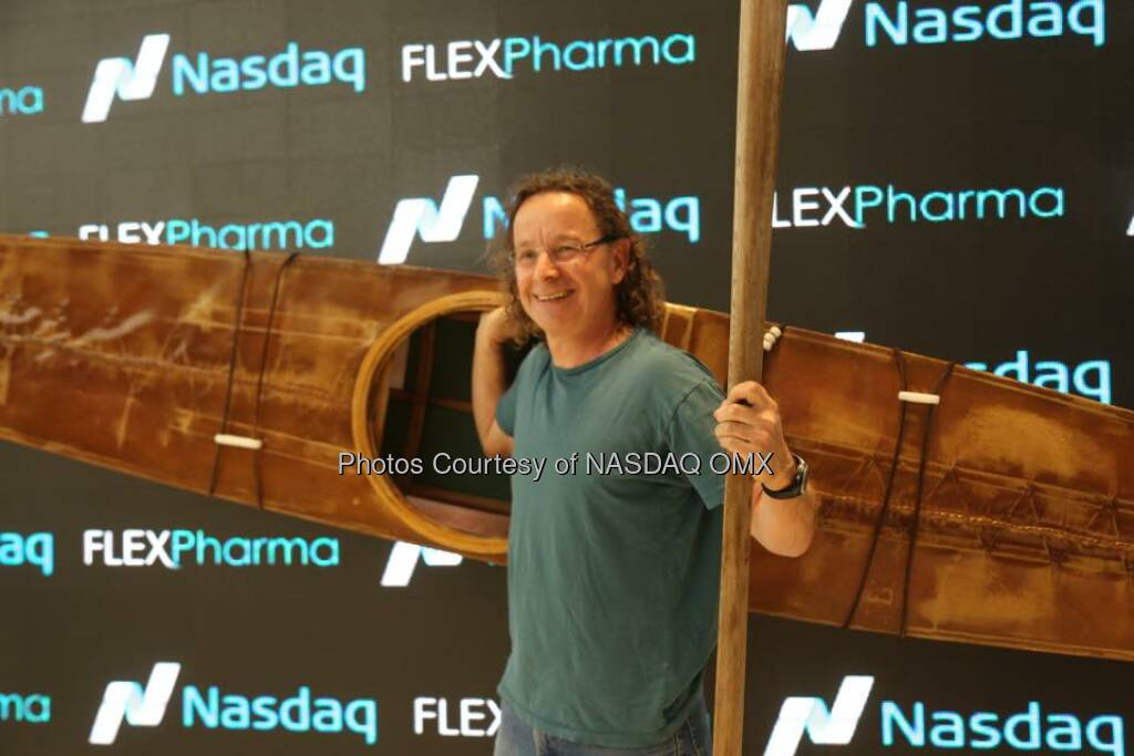 Flex Pharma rings the Nasdaq Closing Bell!   Source: http://facebook.com/NASDAQ (02.06.2015)