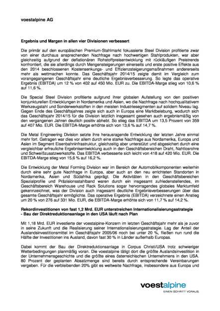 voestalpine mit deutlichem Ergebnissprung im Geschäftsjahr 2014/15, Seite 2/6, komplettes Dokument unter http://boerse-social.com/static/uploads/file_74_voestalpine_gj_201415.pdf (03.06.2015)