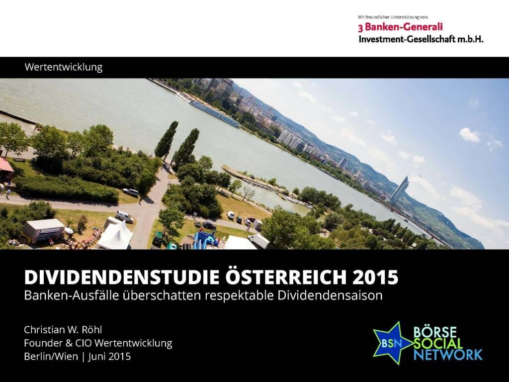 Dividendenstudie Österreich 2015 (03.06.2015)