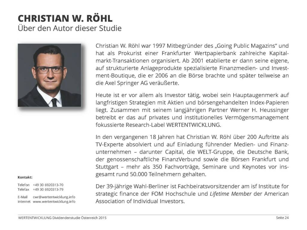 Christian W. Röhl (03.06.2015)