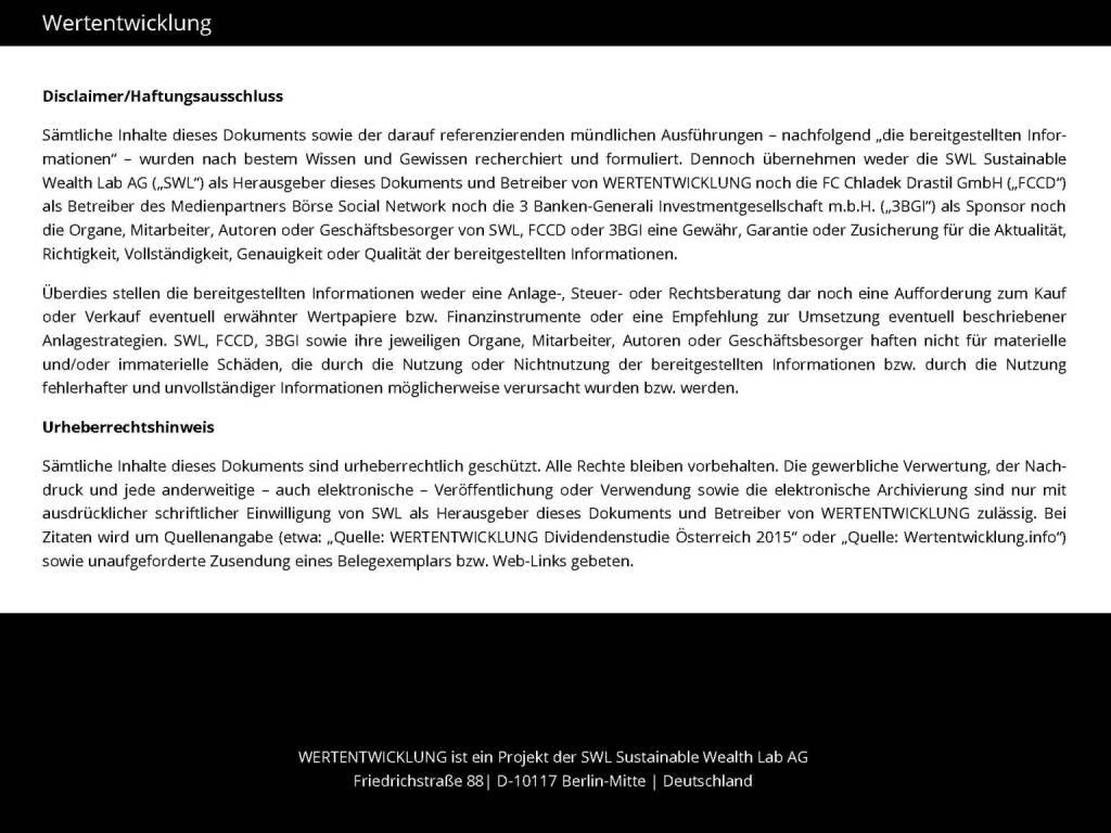 Wertentwicklung (03.06.2015)