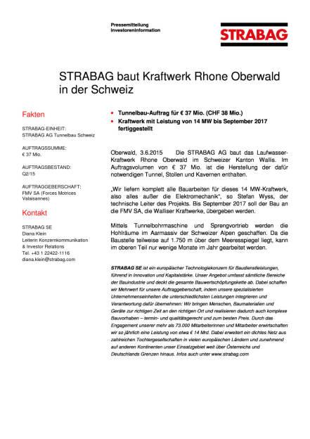 Strabag baut Kraftwerk Rhone Oberwald in der Schweiz, Seite 1/1, komplettes Dokument unter http://boerse-social.com/static/uploads/file_75_strabag_kraftwerk.pdf (03.06.2015)