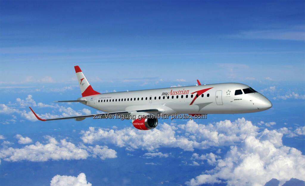 Austrian Airlines Aufsichtsrat genehmigt Kauf von 17 Embraer-Jets, © Aussendung (03.06.2015)