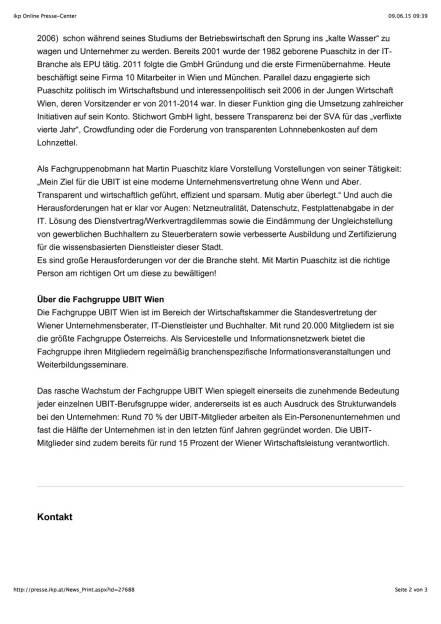 Martin Puaschitz neuer Obmann der Fachgruppe UBIT Wien, Seite 2/3, komplettes Dokument unter http://boerse-social.com/static/uploads/file_97_ubit-wien-chef.pdf (09.06.2015)