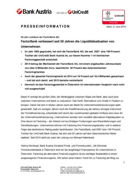 FactorBank: 50 Jahren Liquiditätsverbesserer von Unternehmen, Seite 1/3, komplettes Dokument unter http://boerse-social.com/static/uploads/file_101_factorbank.pdf (09.06.2015)