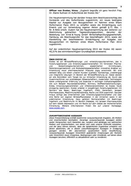 Evotec: Elaine Sullivan neu im AR, Seite 2/2, komplettes Dokument unter http://boerse-social.com/static/uploads/file_104_elaine_sullivan.pdf (09.06.2015)