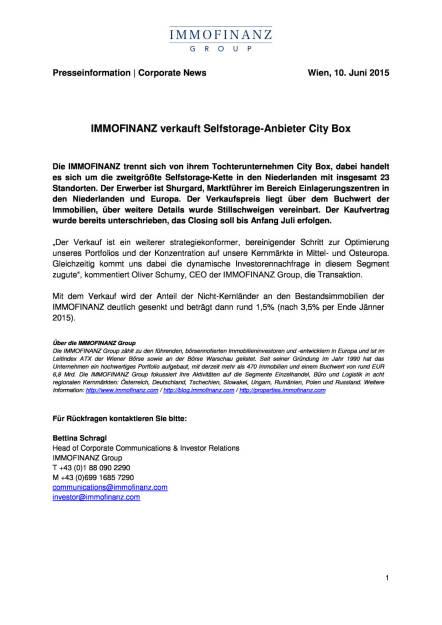 Immofinanz verkauft Selfstorage-Anbieter City Box, Seite 1/1, komplettes Dokument unter http://boerse-social.com/static/uploads/file_108_immofinanz_city_box.pdf (10.06.2015)