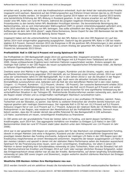 RBI CEE-Bankensektorreport, Seite 2/5, komplettes Dokument unter http://boerse-social.com/static/uploads/file_111_rbi_cee-bankensektorreport.pdf (10.06.2015)