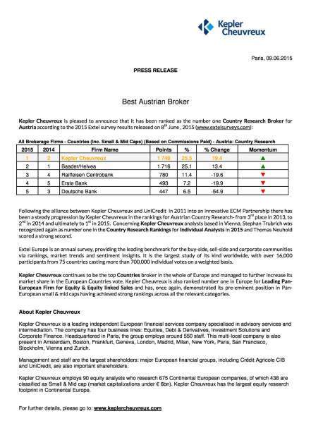 Kepler Cheuvreux Nr.1 bei Austro-Aktienresearch, Seite 1/1, komplettes Dokument unter http://boerse-social.com/static/uploads/file_114_kepler_research.pdf (10.06.2015)