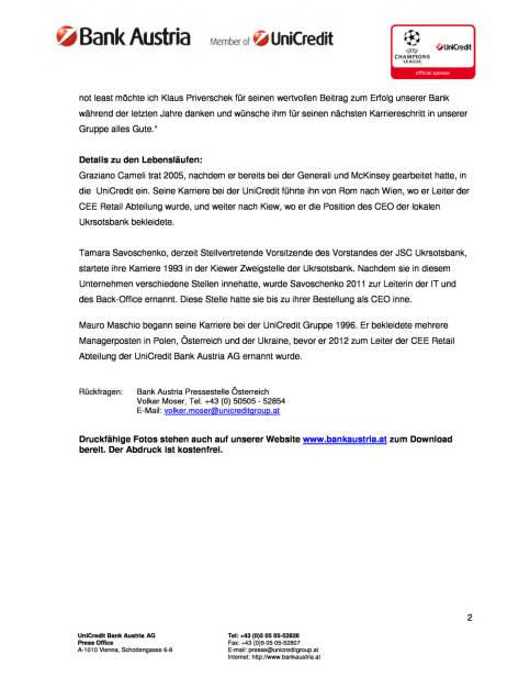 UniCredit Bank Austria AG ernennt erstmals einen weiblichen CEO, Seite 2/2, komplettes Dokument unter http://boerse-social.com/static/uploads/file_115_unicredit_cee.pdf (10.06.2015)