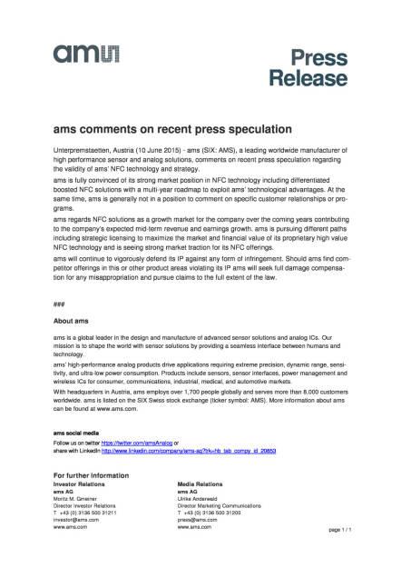 ams zu Spekulationen, Seite 1/1, komplettes Dokument unter http://boerse-social.com/static/uploads/file_116_ams_zu_spekulationen.pdf (10.06.2015)