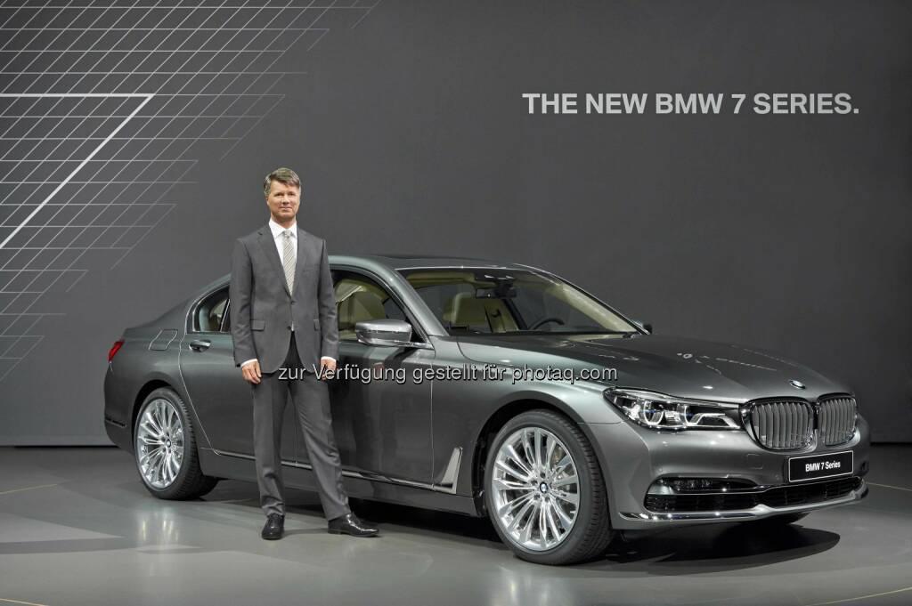Harald Krüger - Vorsitzender des Vorstands der BMW AG; Präsentation der neuen BMW 7er Reihe (C) BMW, © Aussendung (11.06.2015)