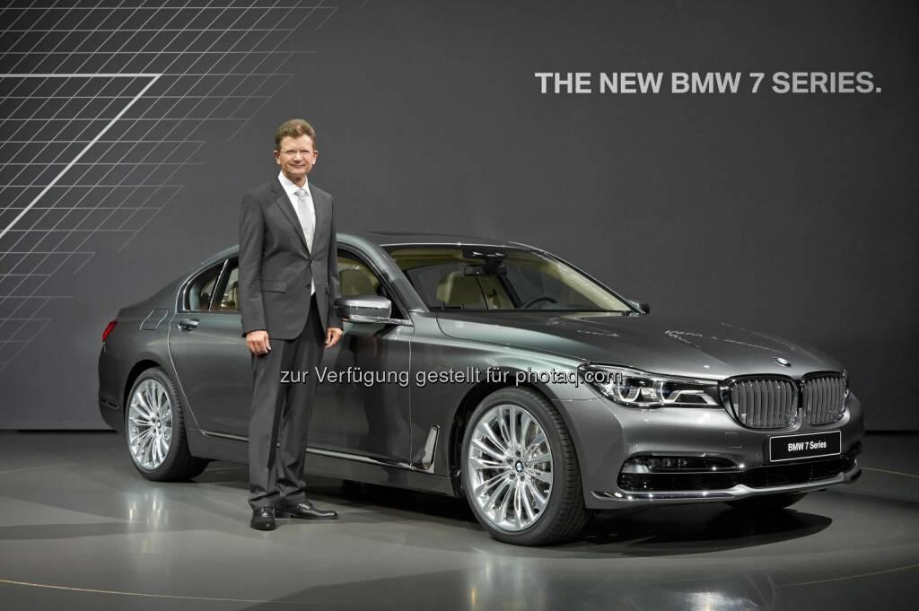 Klaus Fröhlich - Mitglied des Vorstands der BMW AG, Entwicklung; Präsentation der neuen BMW 7er Reihe (C) BMW, © Aussendung (11.06.2015)