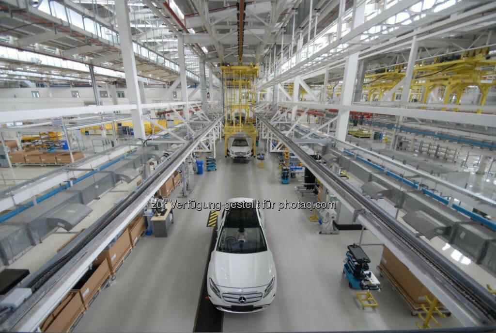 Kompaktwagenproduktion im Mercedes-Benz Werk Pune, Indien: Erster Mercedes-Benz GLA läuft in Indien vom Band, (C) Mercedes , © Aussendung (11.06.2015)