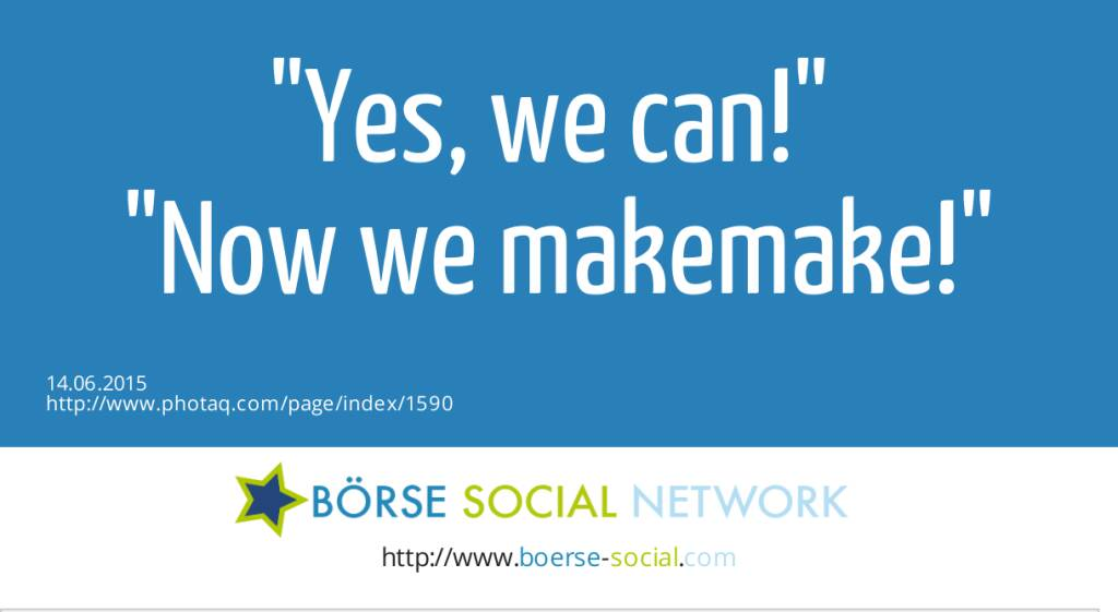 Yes, we can! <br>Now we makemake!  (14.06.2015)
