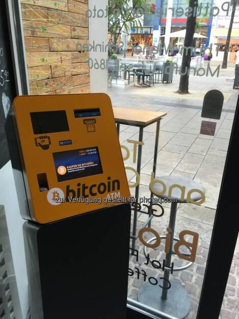 Coinimal GmbH: Coinimal nimmt den ersten Bitcoin ATM im Herzen Wiens in Betrieb (C) Coinimal, © Aussender (16.06.2015)