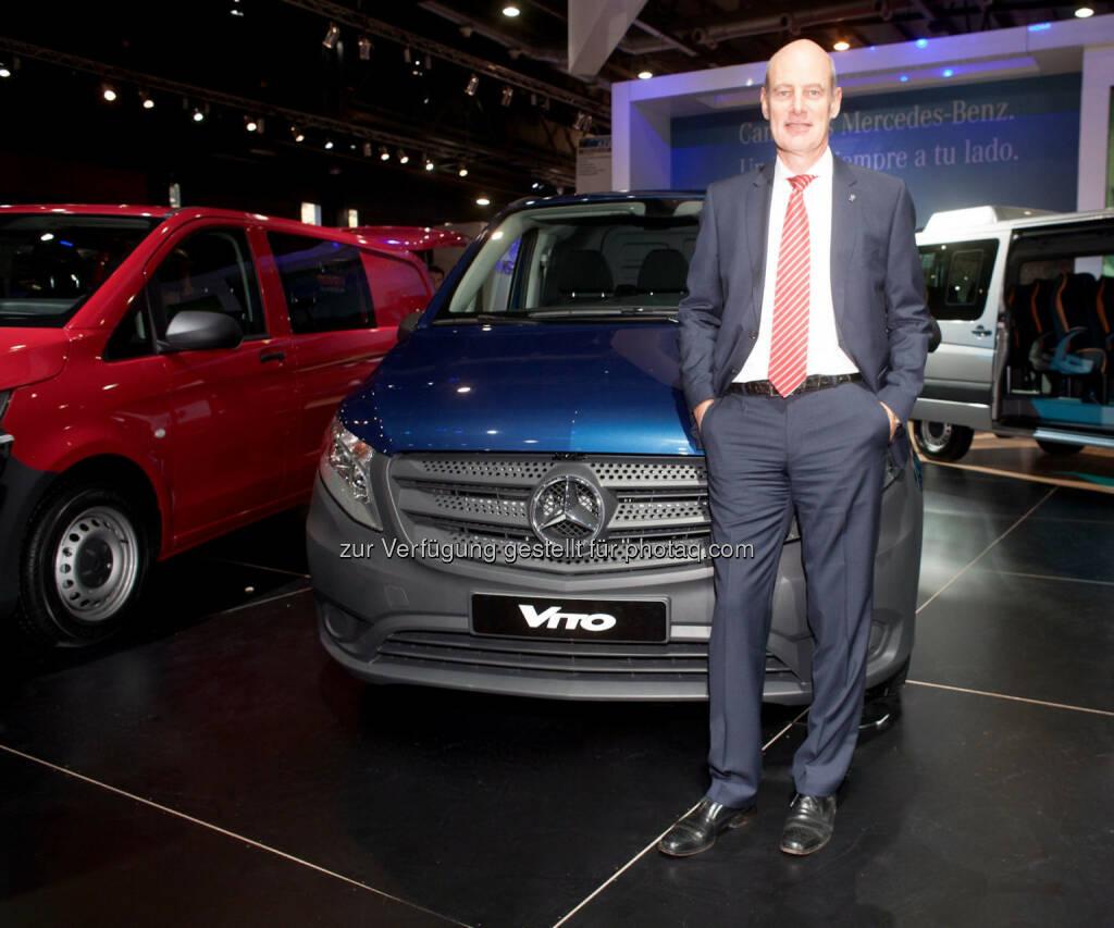 Volker Mornhinweg, Leiter Mercedes-Benz Vans: Mercedes-Benz Vans stellt neuen mittelgroßen Transporter Vito in Argentinien vor. (C) Mercedes-Benz, © Aussendung (22.06.2015)