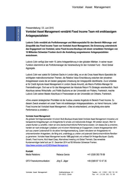 Vontobel Asset Management verstärkt Fixed Income Team mit Ludovic Colin, Seite 1/1, komplettes Dokument unter http://boerse-social.com/static/uploads/file_159_vontobel.pdf (23.06.2015)