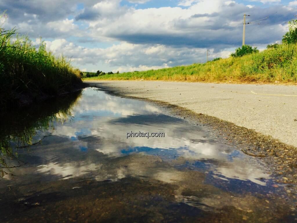 Weg, Lacke, Wasser, Spiegelung, © Martina Draper (23.06.2015)