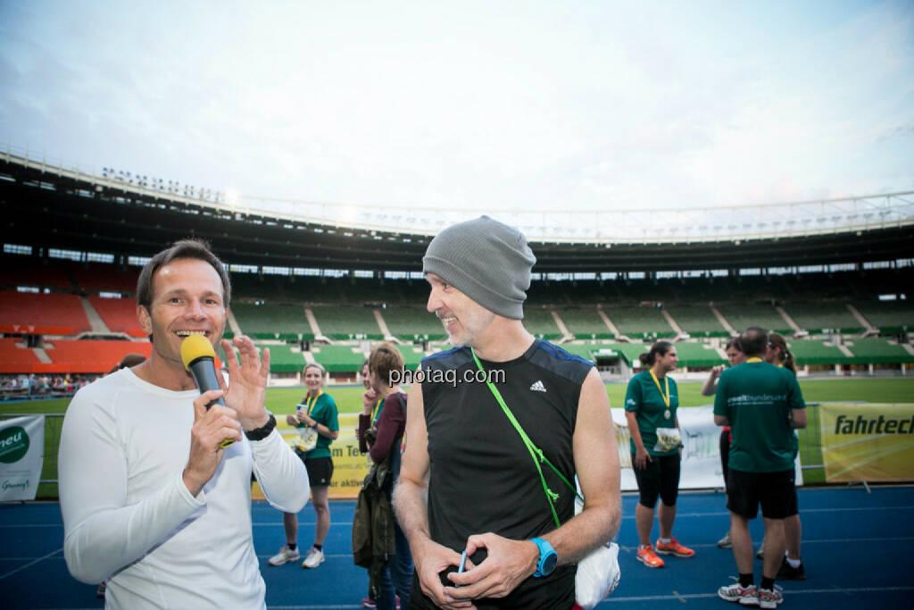 Alexander Rüdiger interviewt Christian Drastil, © photaq/Ludwig Hartweger/Martina Draper/div.Handypics (26.06.2015)