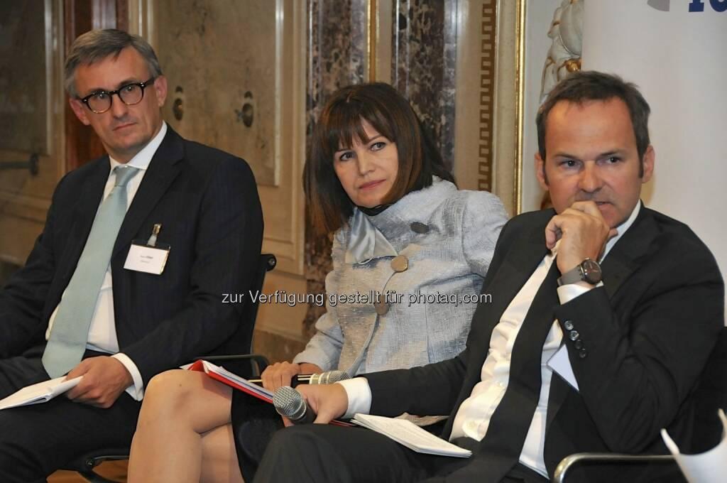 Robert Ottel (voestalpine/Aktienforum), Birgit Kuras (Wiener Börse), Franz Schellhorn (Die Presse) (15.12.2012)